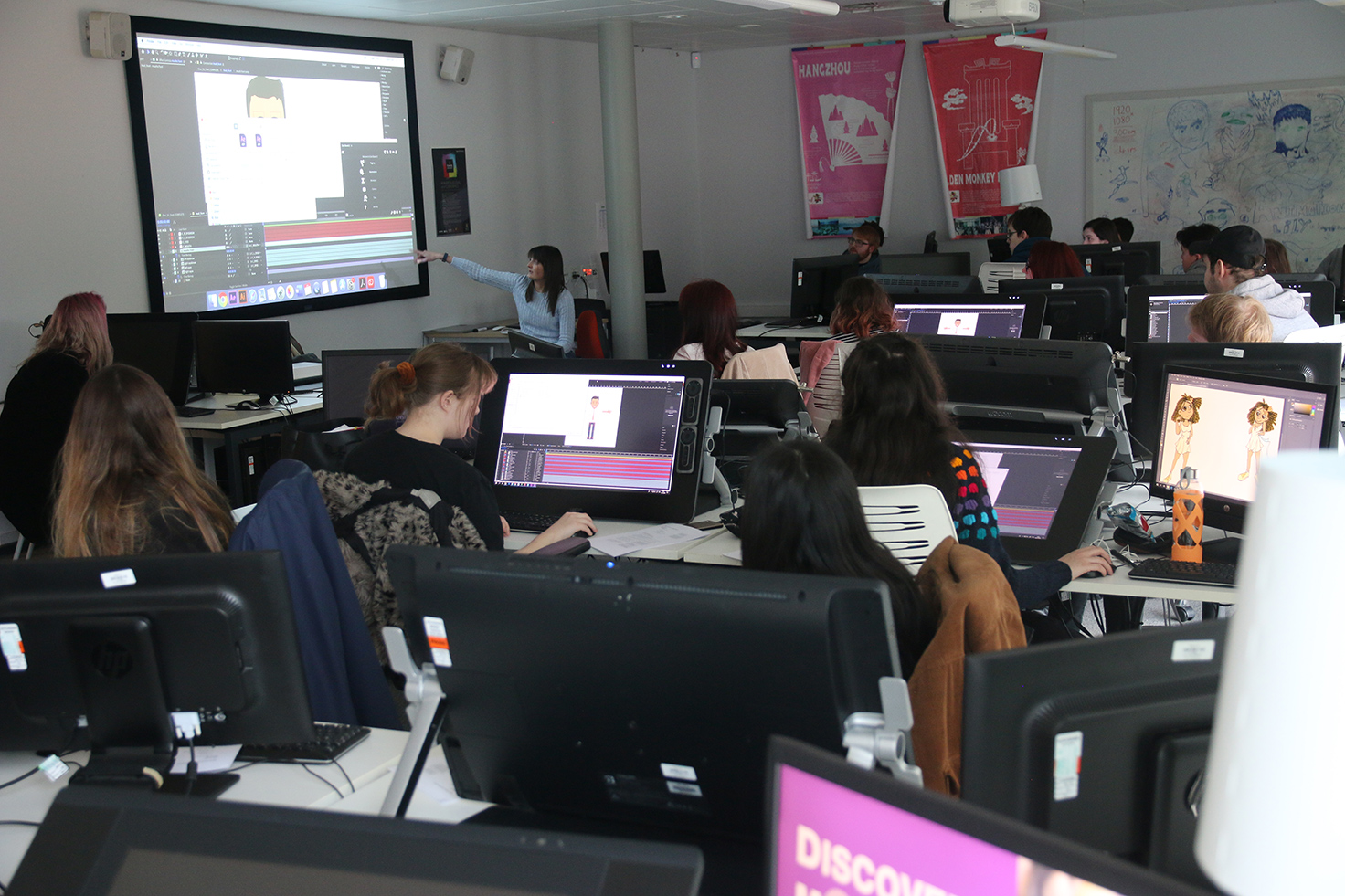 Past Edge Hill animation students teaching current Edge Hill animation students