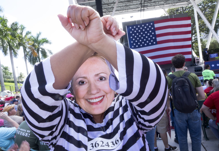 'Crooked Hillary', as Trump supporters know her.  EPA/Cristobal Herrera