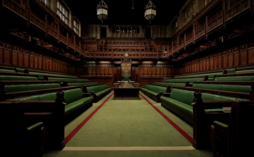 Empty chamber at Huse of Commons