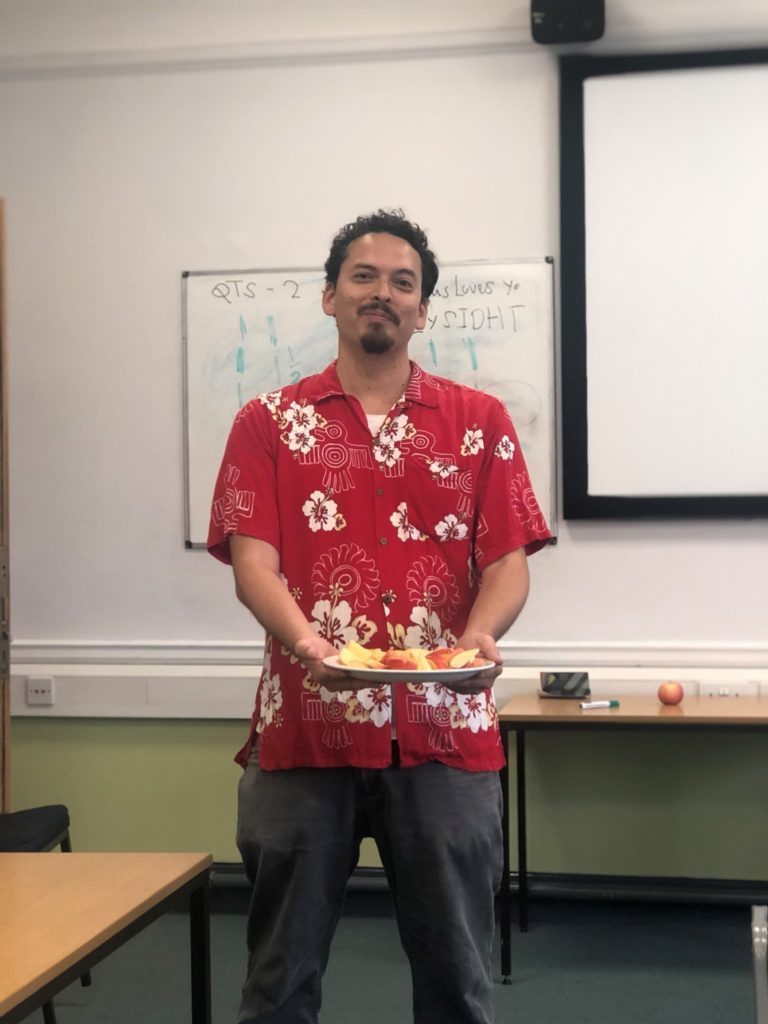 Lecturer teaches the Jewish festival of Rosh Hashanah.