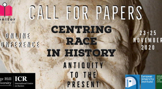 Centring race in history- CALL FOR PAPERS