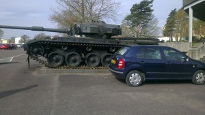 Although being told to 'park next to the tank' definitely cheered me up.