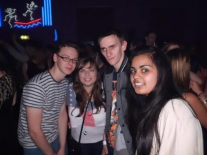 This picture was taken in the on campus club on my very first night at Edge Hill!