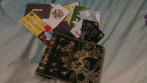 Of course, there is the danger of your purse/wallet starting to look like this...