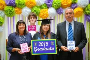 From the free photo booth in the hub during the post-graduation reception!