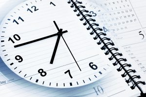 Clock with time on notepad