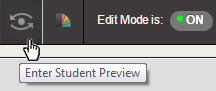 The Enter Student Preview button