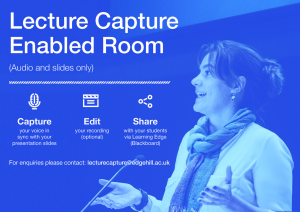 Lecture Capture Enabled Room