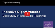 YouTube video - Accessible Teaching (Lecture Capture).