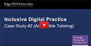 YouTube video - Accessible Tutoring (Blackboard Collaborate).