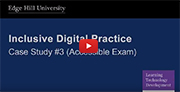 YouTube video - Accessible Exam (PowerPoint - Audio File).