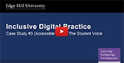 YouTube video - Accessible Exam (PowerPoint - Audio File) Student Voice.