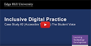 YouTube video - Accessible Tutoring (Blackboard Collaborate) - Student Voice.