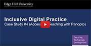 YouTube video - Accessible Teaching (Panopto - Lecture Capture).