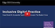 YouTube video - Accessible Teaching (Panopto - Lecture Capture) - Student Voice.