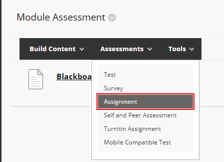 blackboard assignment image