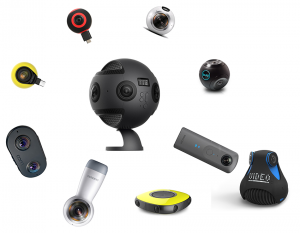 Sample of 360° video cameras