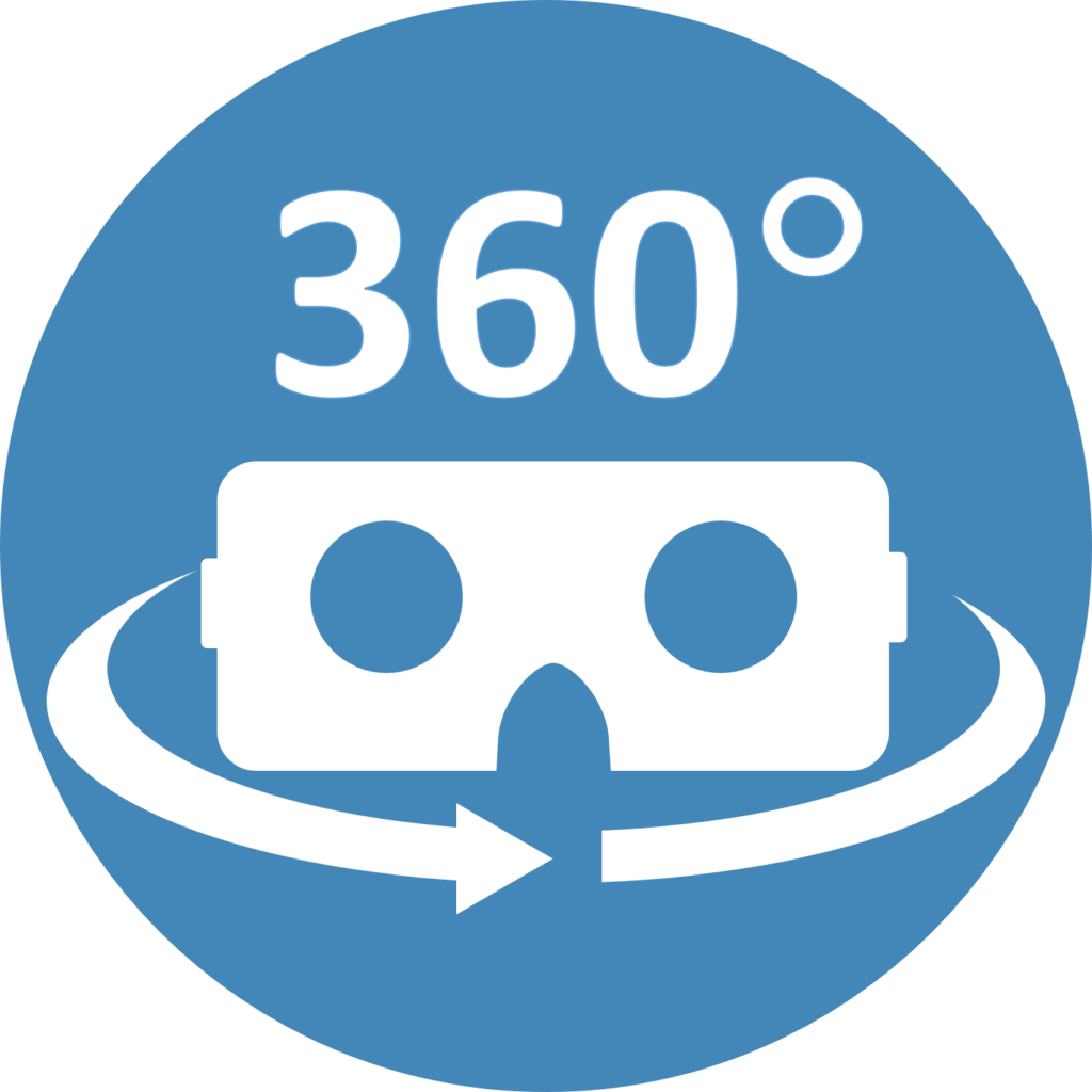 VR headset icon to mark link to 360 video.