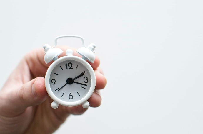 Picture of an a small alarm clock