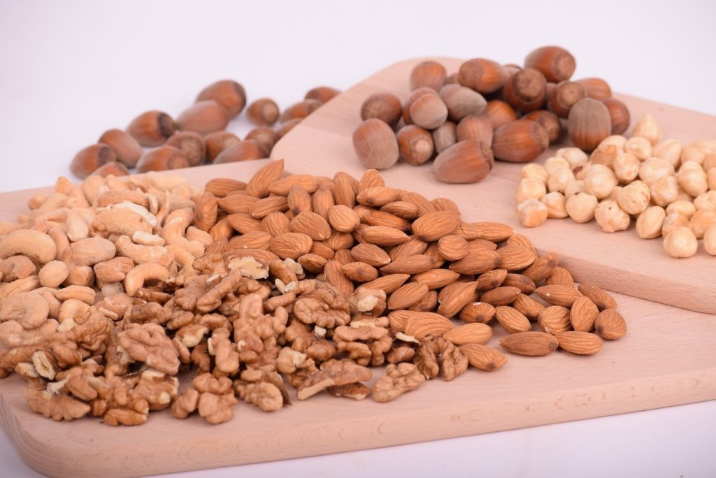 A photograph of an assortment of nuts.