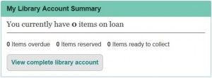 BB My Library Account Summary