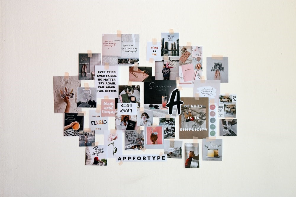 Moodboard of images