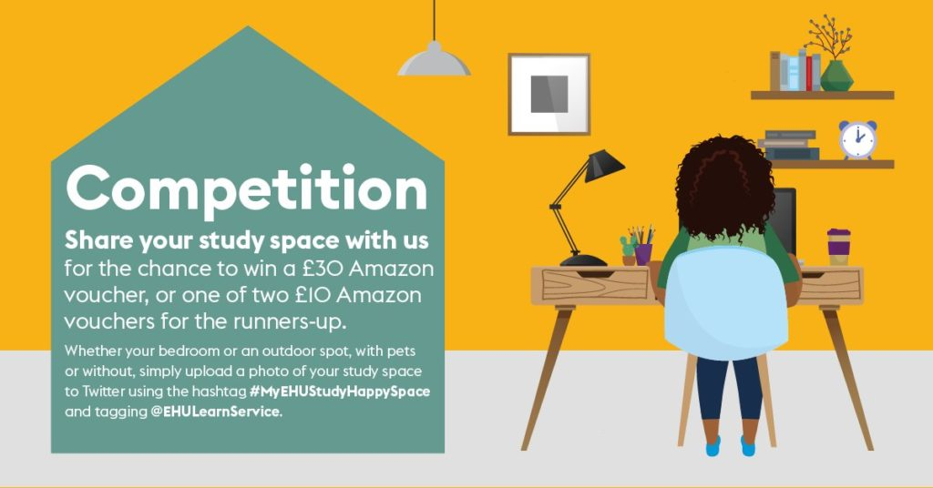 Competition: share your study space with us for the chance to win a £30 Amazon voucher, or one of two £10 Amazon vouchers. T&C apply.