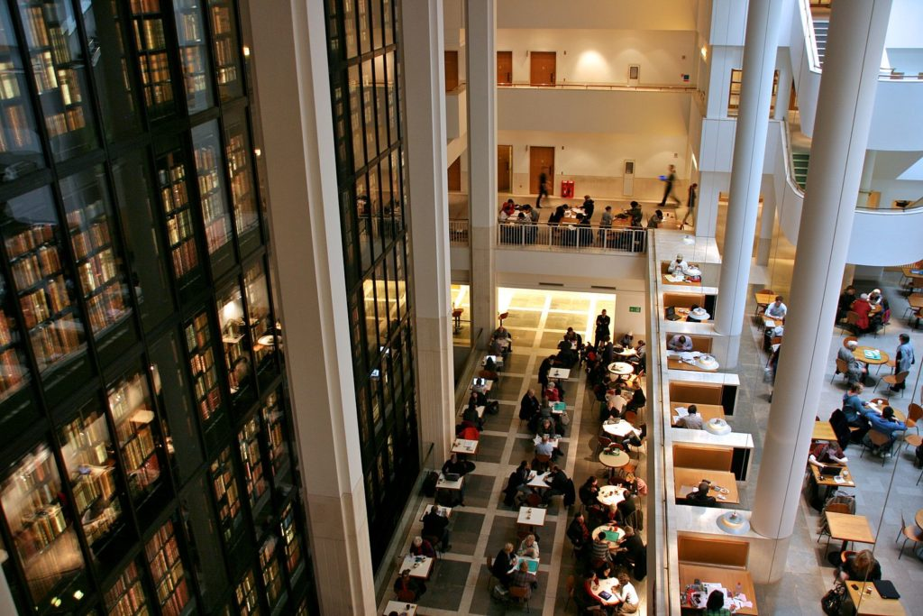 View of the King's Library at the British Library