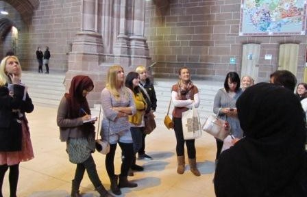PGCE trainees visit Liverpool Anglican Cathedral