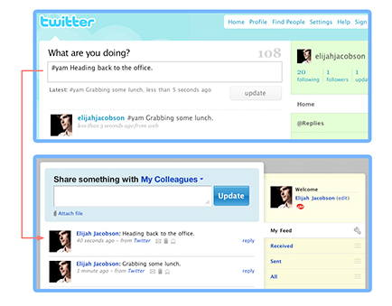 Integrating Yammer and Twitter