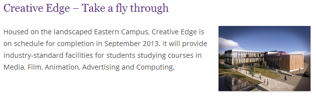 Creative Edge - Take a fly through - News - Edge Hill University(2)