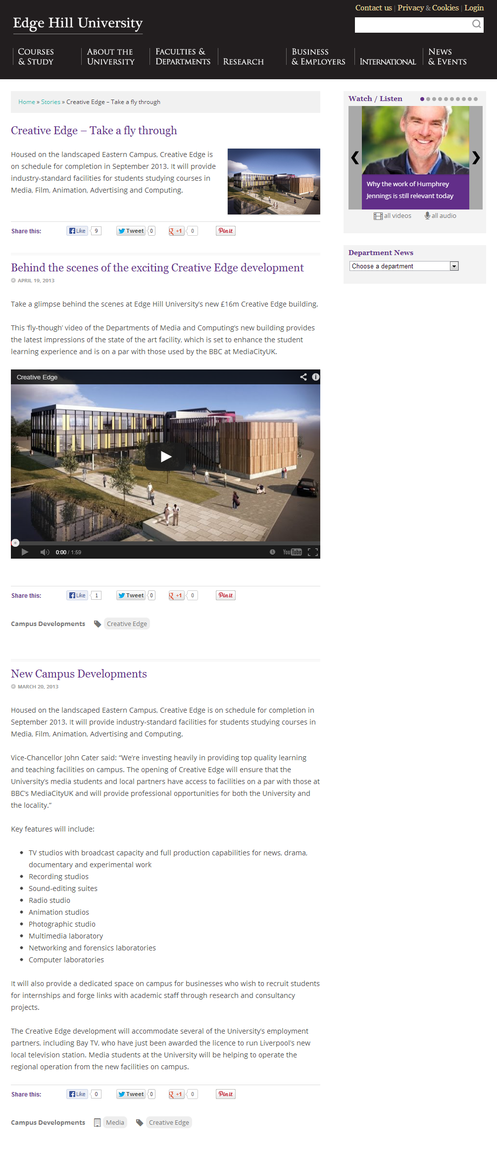 Creative Edge - Take a fly through - News - Edge Hill University(5)